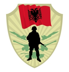 Army of Albania vector image vector image