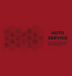 auto service background with icons and signs vector image