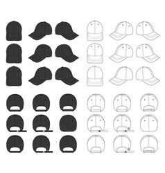Baseball cap mega design pack vector