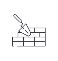Brickwork line icon concept brickwork vector