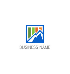Business chart summit company logo vector