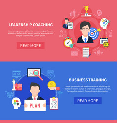 business coaching banners set vector image