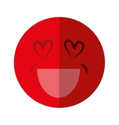 Cartoon face icon in love design graphic vector