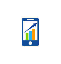 Chart mobile logo icon design vector