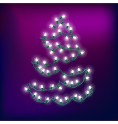 Christmas Light Abstract Tree 2 vector