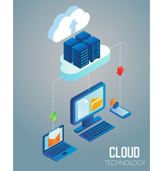 Cloud technology isometric vector