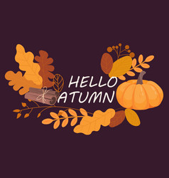 collection of autumn vector image