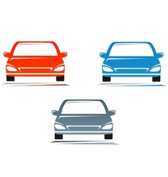 colorful cars vector image