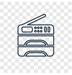 Copy machine concept linear icon isolated on vector