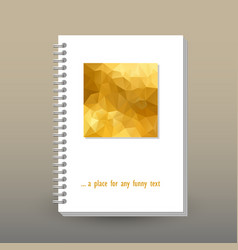 Cover of diary or notebook gold triangular vector
