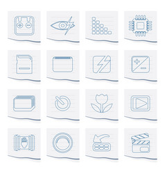 Digital camera performance icons vector