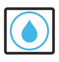 Drop Framed Icon vector image