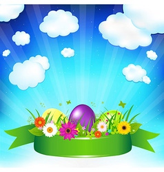 Easter ard Template vector image