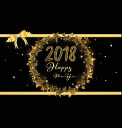 elegant banner of happy new year 2018 vector image