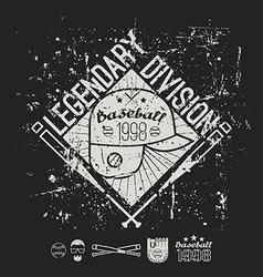 Emblem baseball legendary division college vector
