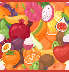 exotic fruit pattern seamless fruity vector image