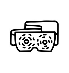 Eyes massage device line doodle simple icon vector