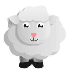 farm sheep icon cartoon style vector image