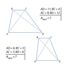 Finding the area of a trapezoid vector