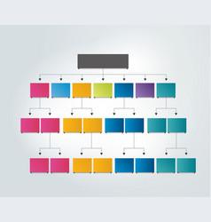 Flowchart empty scheme vector