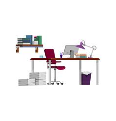Freelancer workplace boss - cartoon style vector