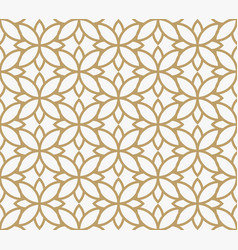 geometric floral leaf ornament line seamless vector image