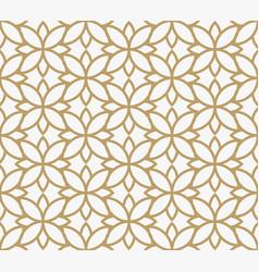 Geometric floral leaf ornament line seamless vector