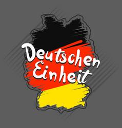 German einheit concept background hand drawn vector