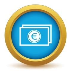 Gold euro buck icon vector image