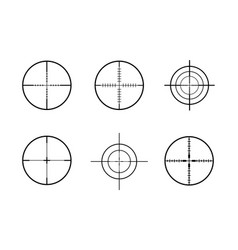Gun crosshairs vector