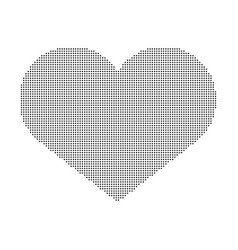 Heart of dots isolated on white background vector