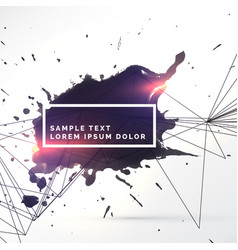 Ink splash tecture with line and light effect vector