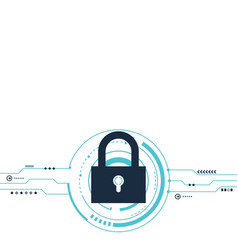 internet security protection system protection vector image