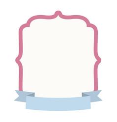 label decoration ribbon design vector image