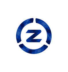 letter z logo inspiration isolated on white vector image