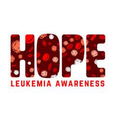 Leukemia awareness image vector