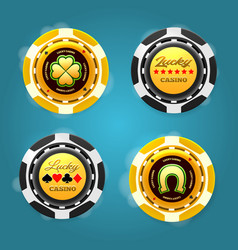 lucky poker chips vector image