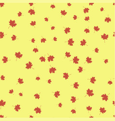 maple leaf red seamless pattern color vector image