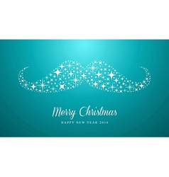 Merry Christmas and Happy New Year hipster vector image