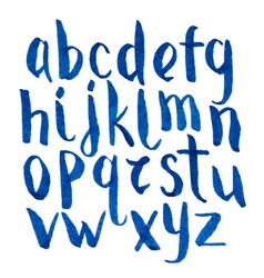 Modern watercolor blue font vector