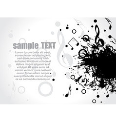 musical background with place for your text vector image