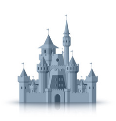 old medieval castle flat cartoon isolated on vector image