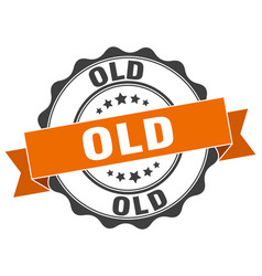 old stamp sign seal vector image
