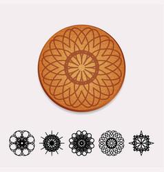 ornamental cork beer coaster vector image