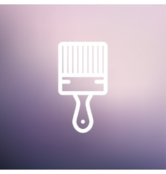 Paintbrush thin line icon vector image