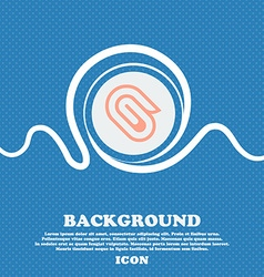 paper clip sign icon Blue and white abstract vector image