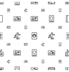 pass icons pattern seamless white background vector image