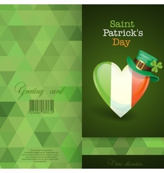 Patricks Day Irish Flag In The Shape Of A Heart vector