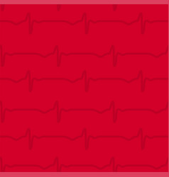 pattern with heart beat for backgrounds vector image