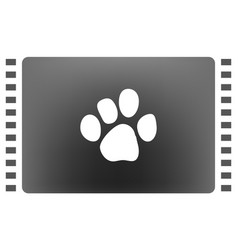 paw print icon vector image
